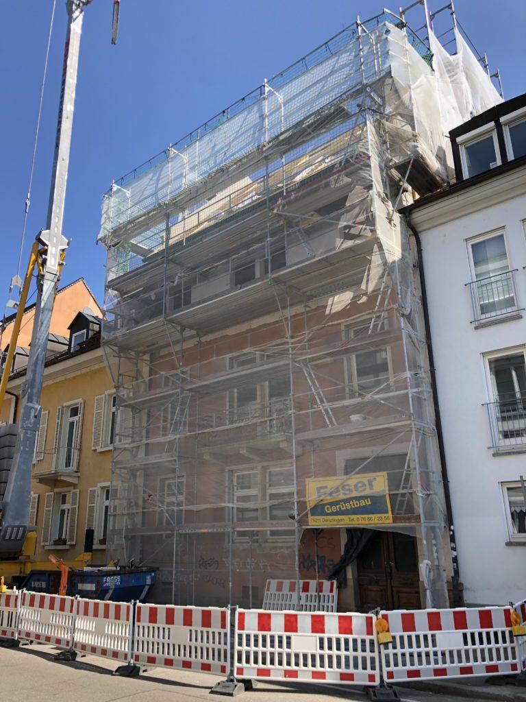 Beginn der Sanierung in der Kirchstrasse Freiburg